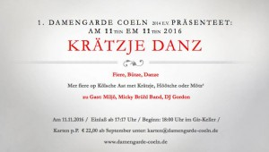 Damengarde Coeln Krätzje danz